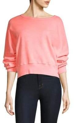 Stateside Cropped Cotton Sweatshirt