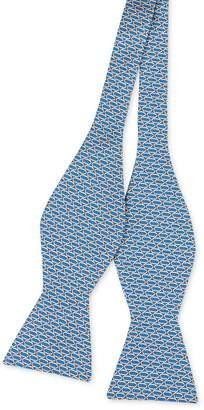 Italian Silk Bow Tie In Mini Rings $85 thestylecure.com