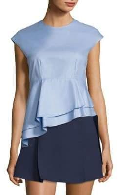 Carven Babydoll Asymmetrical Cotton Top