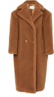 Max Mara Teddy Double-Breasted Faux Fur Coat