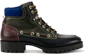 DSQUARED2 leather hiking boots