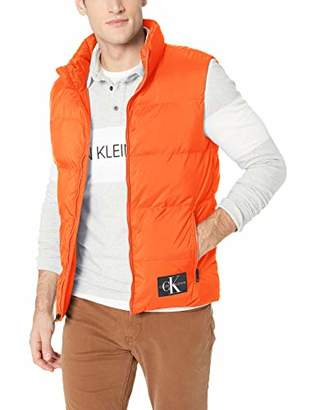 Calvin Klein Jeans Men's Mixed Media Puffer Vest
