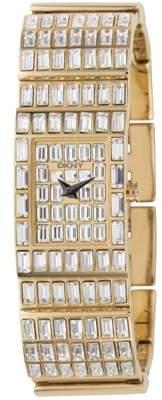 DKNY Women's Quartz Watch with Black Dial Analogue Display Quartz Stainless Steel NY4278