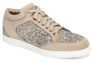 Jimmy Choo Miami Mid Top Glitter Sneaker