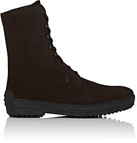Tod's MEN'S SUEDE LACE-UP BOOTS - DK. BROWN SIZE 12 M
