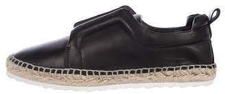 Pierre Hardy Leather Slip-On Sneakers Black Leather Slip-On Sneakers