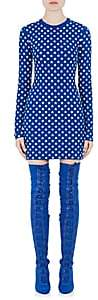Givenchy WOMEN'S STAR-PATTERN JACQUARD FITTED DRESS-ELECTRIC BLUE SIZE M