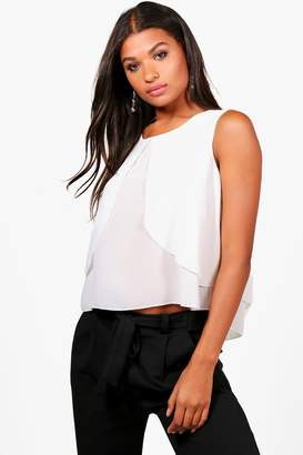boohoo Alexandra Double Layer Sleeveless Blouse