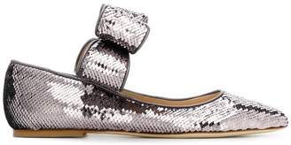 Polly Plume sequinned flats