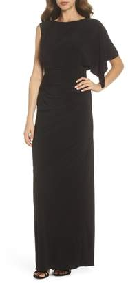 Adrianna Papell One-Sleeve Jersey Gown