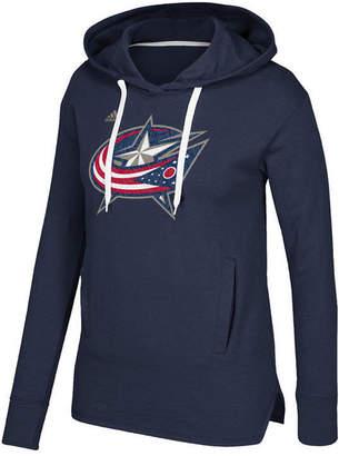 adidas Women's Columbus Blue Jackets Logo Shine Hooded Sweatshirt