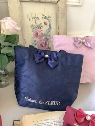 Maison de Fleur (メゾン ド フルール) - Maison de FLEUR ダブルリボンレーストートバッグ