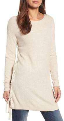 Caslon Side Tie Seed Stitch Tunic Top