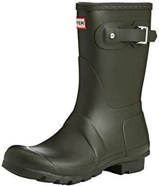 Hunter Women's original short wellington boots, Blue (Navy), (36 EU)