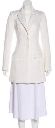 Rachel Zoe Jacquard Peak-Lapel Coat