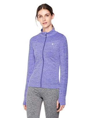 Shapewell Women's Long Sleeve Active Full Zip Workout Track Jacket with Thumb Holes X Large