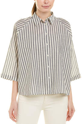 Scotch & Soda Boxy Oversized Button-Up Shirt