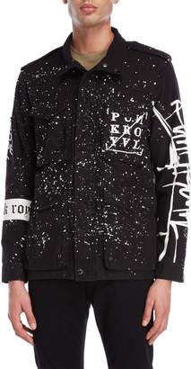 Punk Royal Paint Splatter Shirt Jacket