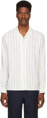 Ami Alexandre Mattiussi White Pinstripe Shirt