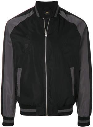 Edwin suede raglan bomber jacket