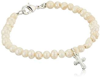 Mud Pie Baby Classic Keepsakes Cultured Pearl Bracelet with Cross