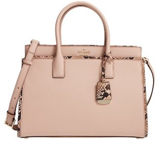 Kate Spade New York Cameron Street Candace Leather Satchel - Brown $398 thestylecure.com
