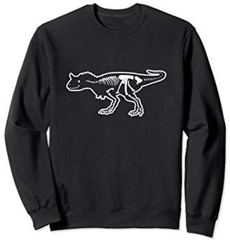 Fossil Carnotaurus Dinosaur Sweatshirt   Dino Bones