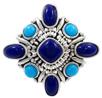 Lapis Savvy Cie & Turquoise Stone Ring