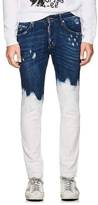 DSQUARED2 Men's Paint-Splatter Distressed Skinny Jeans