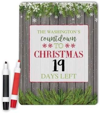 MonogramOnline Countdown To Christmas Custom Dry Erase Memo Board