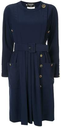 Chanel PRE-OWNED belted dress