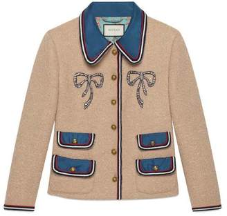 Gucci Wool jacket with crystal bows