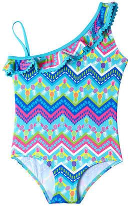 Pink Platinum One Piece Swimsuit Preschool Girls