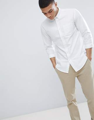 Benetton Regular Fit Oxford Shirt in White