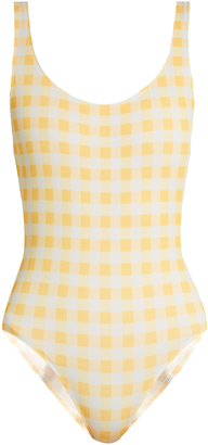 SOLID & STRIPED The Anne-Marie gingham swimsuit $158 thestylecure.com