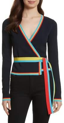 Diane von Furstenberg Long Sleeve Wrap Cardigan