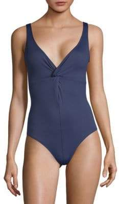 Shoshanna Twist One-Piece Swimsuit