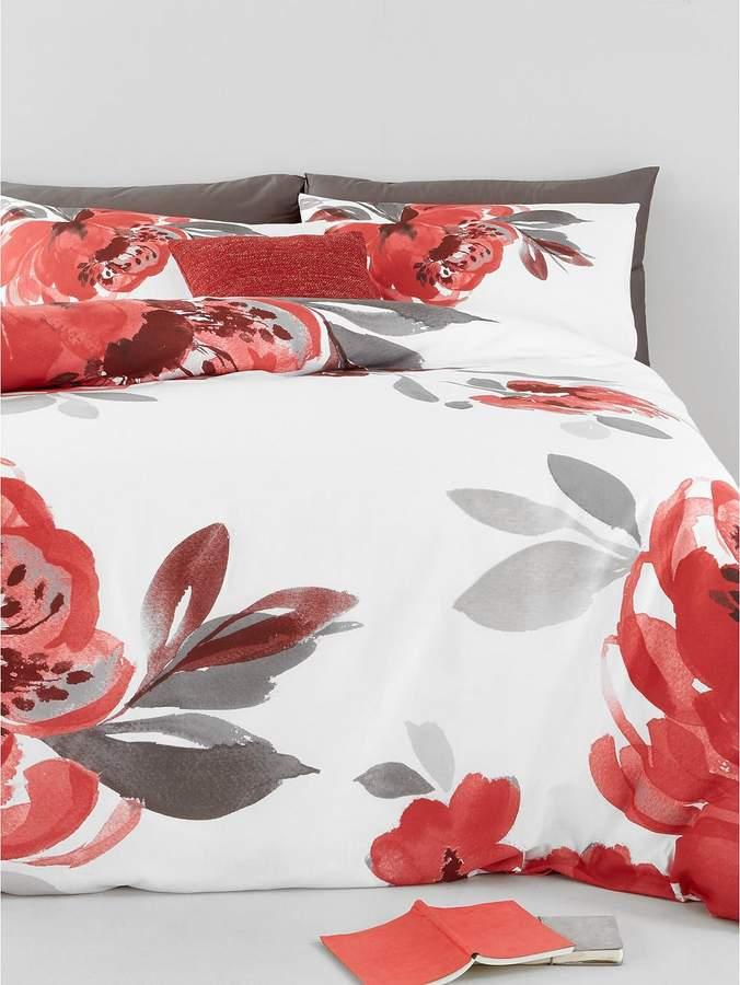 Catherine Lansfield Georgia Floral Cotton Rich Duvet Cover Set