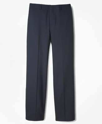Brooks Brothers BrooksEase Prep Plain-Front Dress Trousers