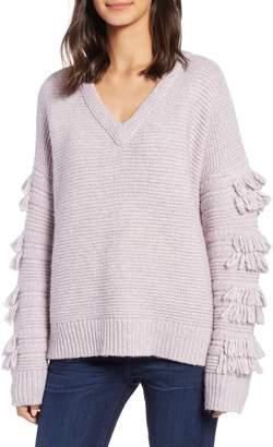 Madewell Fringe Sleeve Pullover Sweater