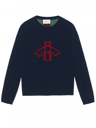 Gucci Bee pattern sweater $950 thestylecure.com