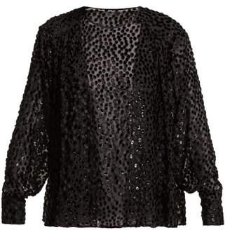 Isabel Marant Midway Devore Blouse - Womens - Black