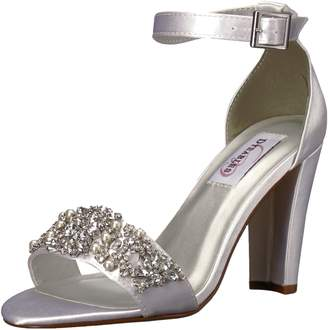 Dyeables Women's Felicity Heeled Sandal White 5.5 M US