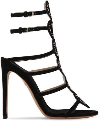 Giambattista Valli 110mm Suede Heart Cage Sandals