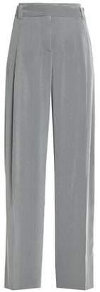 Cédric Charlier (セドリック シャルリエ) - Cedric Charlier Pleated Striped Crepe Wide-Leg Pants