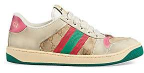 Gucci Women's Worn Screener Leather Sneakers
