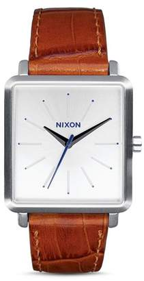 Nixon K Squared Leather Watch, 30mm x 32mm