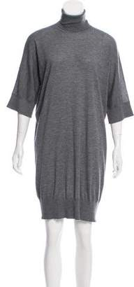 Fendi Cashmere Short Sleeve Dress