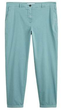 Violeta BY MANGO Straight cotton trousers