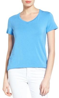 Women's Halogen Modal Jersey V-Neck Tee $32 thestylecure.com